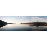 Sunset on the Coñaripe Lake (panoramic Ratio 1/3)