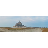 Sunset on the Bay of Mont Saint-Michel (panoramic)
