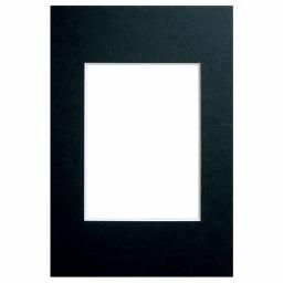 Passe-partout noir 30x45 photo 20x30 biseauté