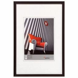 Cadre photo aluminium brossé 40x60 Chair noir