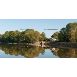 Fine Art 20x40 - Trees and Barrage Reflection  #2