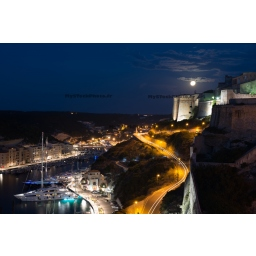 Moonrise on Bonifacio
