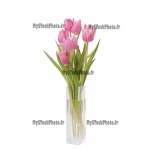 Fine Art 20x30 - bunch of Tulips in a vase