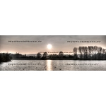 Toile Fine Art 20x60 - Sunset on the Lake