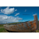Toile Fine Art 20x30 - Blue sky and Vintage boat