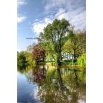 Toile Fine Art 20x30 - Canal et Réflection de couleurs