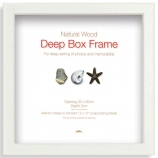 Cadre photo Box Frame 30x30cm blanc large
