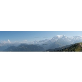 Panorama of The Mont Blanc