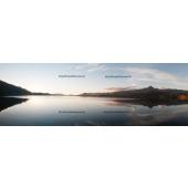 Sunset on the Coñaripe Lake (panoramic Ratio 1/3)